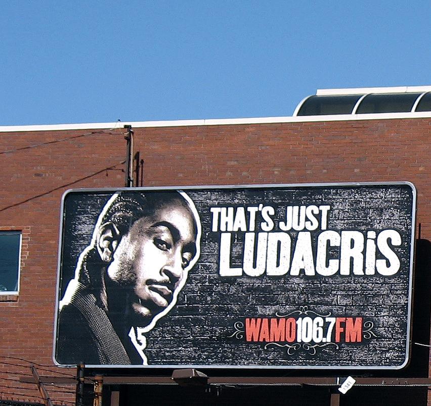 "106.7 WAMO Off Air - ""That's Just Ludacris"" (flcikr photo by mhwolk)"