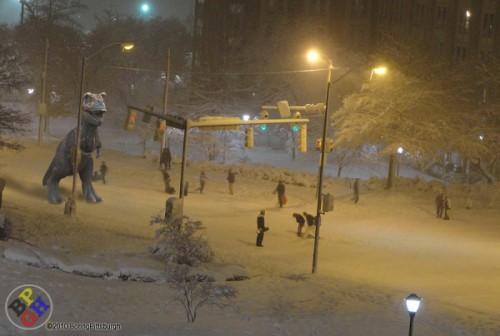 Creation Rex Snowball Fight at CMU