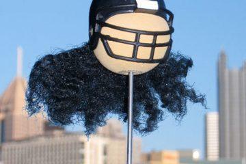 "Troy Polamalu ""Hairy Helmet"" Antenna Balls"