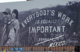 Levi's Braddock, PA ad campaign billboard in Oakland