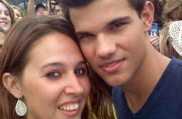 """Me and Taylor Lautner!! OMG"" via @woahxcorri on Twitter"