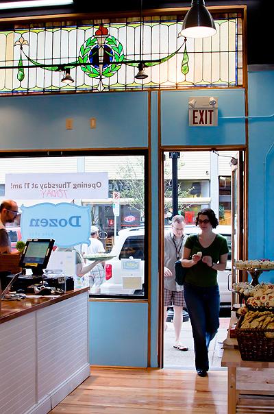 Dozen Bake Shop celebrates their grand opening on Oakland's S. Craig Street