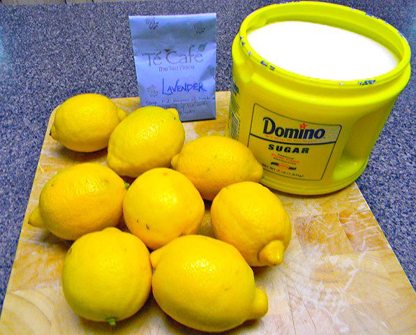 Lavender lemonade ingredients