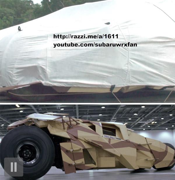 Batman's Batmobile AKA Tumbler spotted in Pittsburgh