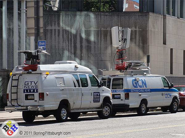 Gotham City News Trucks on Fifth Ave