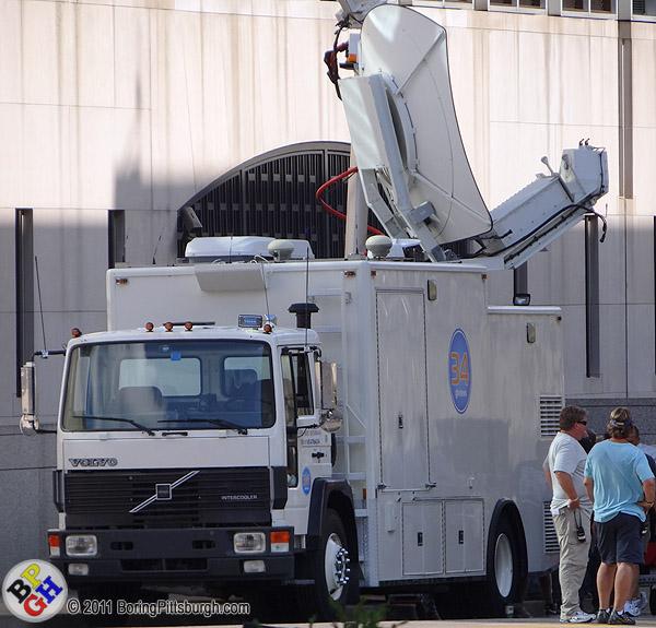 34 GTV News Truck - Dark Knight filming in Pittsburgh