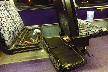 PAT Bus seat falling apart in Pittsburgh