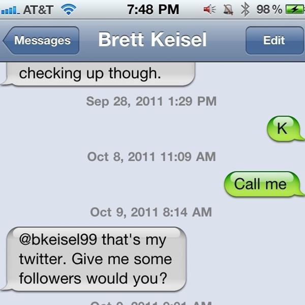 Brett Keisel is on Twitter!