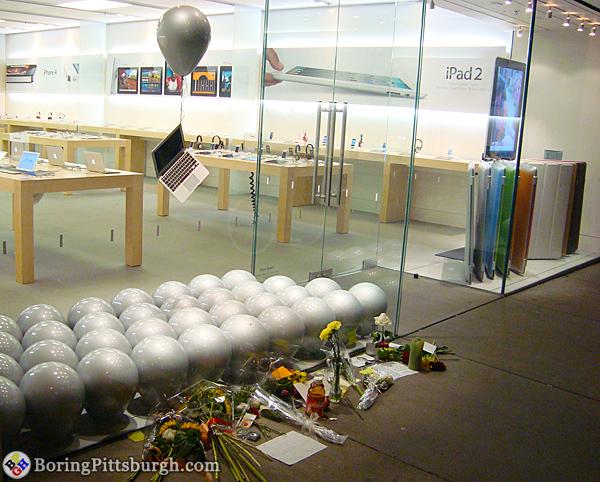 The Steve Jobs Shrine with floating Macbook