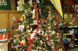 Sport theme Christmas tree at Hozak Farms Barn