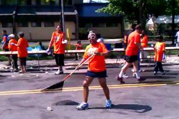 Pittsburgh Marathon Street Sweeper