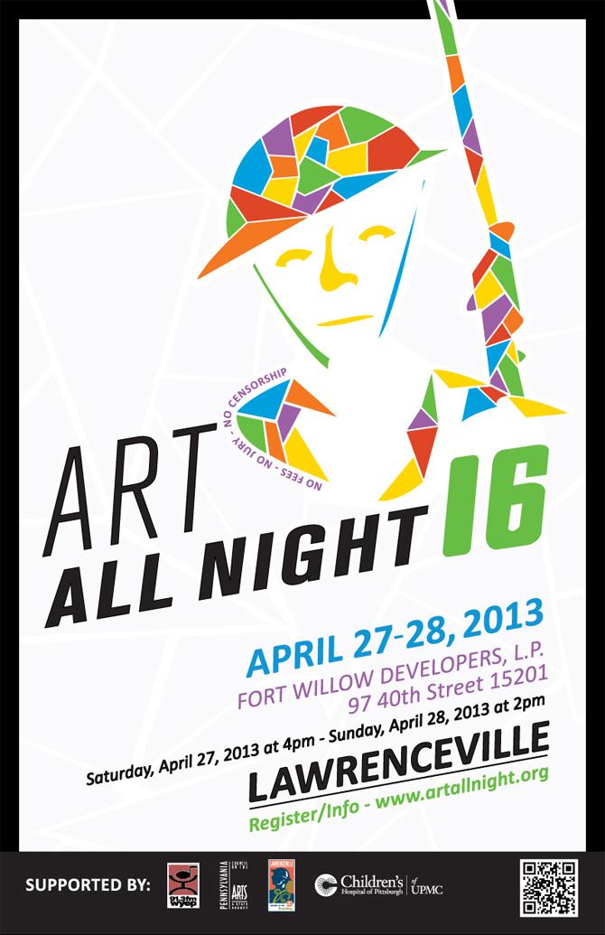 Art All Night 2013 Flyer Poster