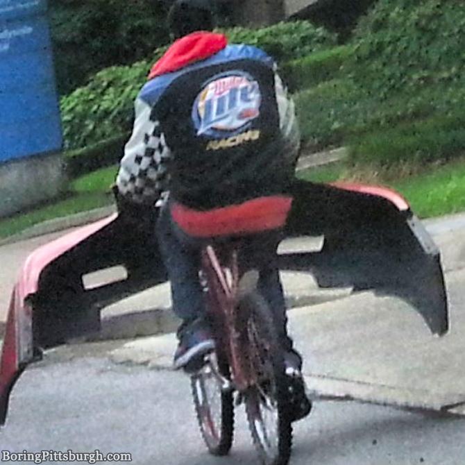 Bumper Bike Dude is back in Pittsburgh