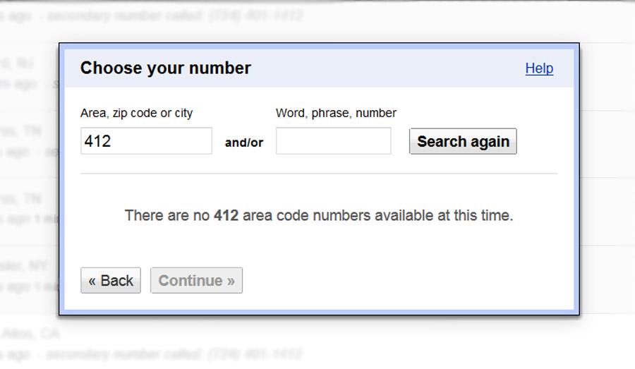 Google Voice 412