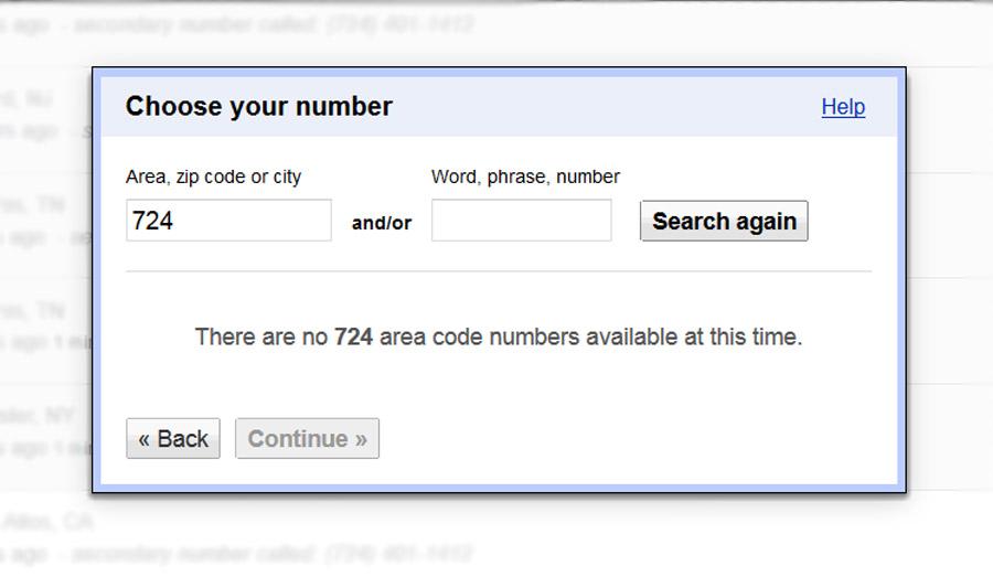 Google Voice 724