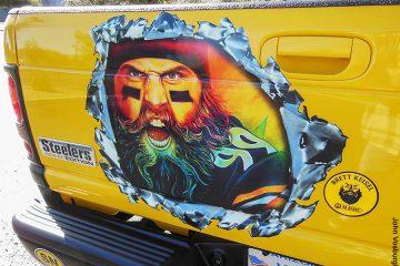 Brett Keisel Steelers Truck