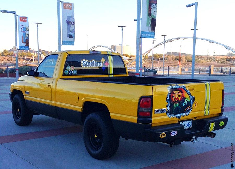 Brett Keisel Steelers Pickup Truck in Arizona