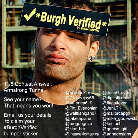 BurghVerified Bumper Sticker Twitter Winners List