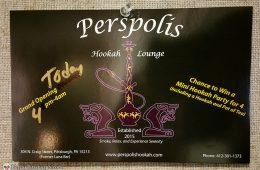 Perspolis Hookah Lounge in Oakland Pittsburgh, 304 N. Craig St.