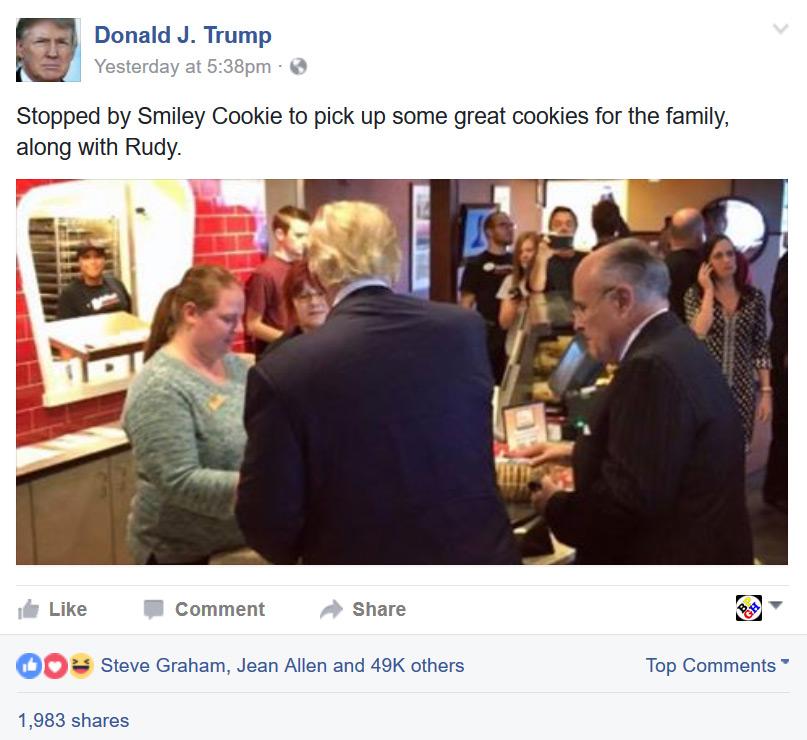 Donald Trump at Eat'n Park in Pittsburgh